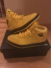 Nike Air Jordan 1 custom Nike ID Black and Yellow Shoes