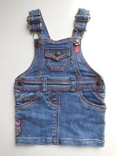 ESPRIT BABY INFANT GIRL DENIM PINAFORE DRESS SIZE 000 FITS 3M * LIKE NEW