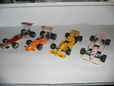 4 x Formula 1 racing cars, 1:24 scale plastic kits.  Good condition. No boxes