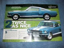 """1966 Shelby GT350 Fastback Mustang Article """"2x Twice As Nice"""" G.T. 350 Paxtson"""