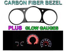 Nismo GTR Style Red Glow Gauge Carbon Fiber Face + Bezel For 03-06 Nissan 350Z Z