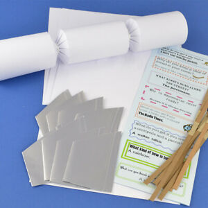 Basic White Make & Fill Your Own DIY Recyclable Christmas Cracker Kits & Boards