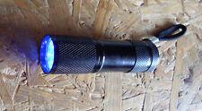 UV-Lampe Geocaching Tool NEU, 9 LED, Schwarzlicht
