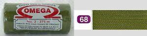 Omega Hilo 100% Nylon Crochet Thread Yarn Size No. 2 - Nylon Thread Colors 68-77
