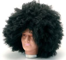 Jimmy Hendrix 1970s 70s Jumbo Pimp Black Afro Wig Fancy Dress NEW