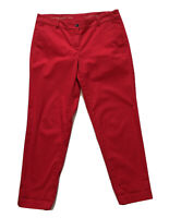 Talbots Womens The Weekend Chino Red Pants Size 8P