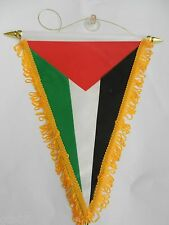 "Palestine Flag Banner Car Mirror Window 9""X12"" Suction Cup Palestinian Banner"