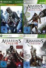 Xbox 360 Assassins Creed BUNDLE TEIL 1 + 2 + 3 + 4 Deutsch sehrguterZustand