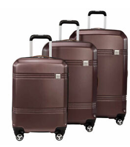 Skyway Columbia Crest 3-piece Hardside Spinner Travel Luggage Set In Maroon