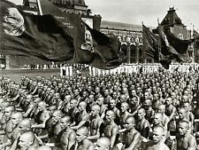 ART PRINT photo BLACK WHITE RED SQUARE PARADE PHYSICAL STALIN MOSCOW NOFL0570