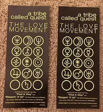 "RARE! A TRIBE CALLED QUEST ""LOVE MOVEMENT"" PROMO STICKERS! 1998! (Q-TIP, ATCQ)"