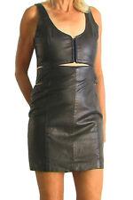 NEW ONE TEASPOON GENUINE LEATHER DRESS M 6 10 $280  WOMEN BLACK SHOPBOP