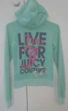 JUICY COUTURE MINT GREEN VELOUR HOODIE SIZE S  EXCELLENT CONDITION