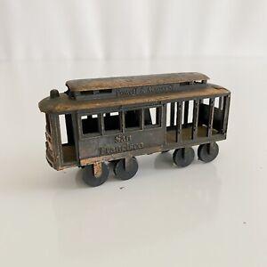 San Francisco Tram Powell Mason St Vintage Brass Pencil Sharpener