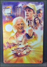 Rare BACK TO THE FUTURE Metal Wall Tin Sign Movie Poster
