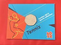 2011 TENNIS 50p Fifty Pence Coin BU London 2012 Olympic Sport Collection Card