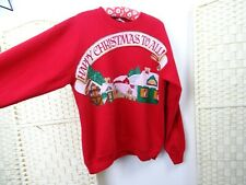 USA Christmas vintage olympic jumper sweatshirt red JC Penney L/XLT