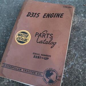 CAT CATERPILLAR D315 Diesel Engine Spare Parts Manual book catalog 52B series
