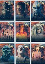 Stargate SG1 Premiere Complete Stargate Aliens Chase Card Set X1-X9