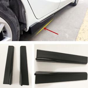 Black 45CM Polyurethane Car body Side Skirt Shovel Rocker Splitters Universal