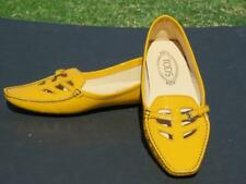 NEW IN BOX ~ TOD's Gommino Yellow Patent Leather Driving Loafers 9.5 US $595