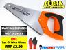 "Cobra Hand Saw 12"" 300mm Steel Polished Blade Rubber Grip Handle Wood 2349"