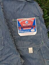 Vintage Deadstock Bib Overalls Washington Dee - Cee Triple Stitched Sanforized