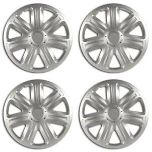 Equip 16'' Universal Fit ABS Plastic Wheel Trim Covers Stylish Hubcaps Set of 4