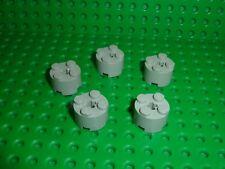 5 x LEGO OldGray Brick Round 2x2 ref 3941 / set 7191 5571 10019 10221 920 7140..