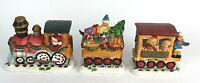 Vintage Ceramic Christmas Train Santa Express 3 Piece Set Santa kids gifts