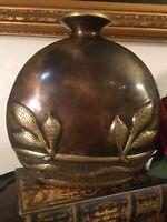 Rare 1980S Vintage Dolby Cashier Mid Century Modern Brass Vase