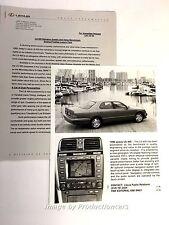 1999 Lexus LS400 Original Car Product Media News Guide Brochure like