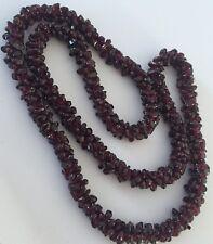 Natural Garnet Cluster Bead Necklace