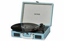 Plattenspieler MP3 USB Digitalisierungsfunktion Lautsprecher Denver VPL-120 BLUE