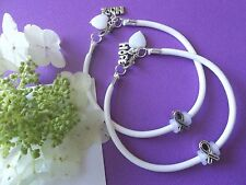 2- LUNG CANCER  AWARENESS  BRACELETS WITH RIBBON/HOPE CHARMS/HEART