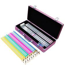 New American Mahjong Full 166 Set Pink Case Western Mah Jongg Tiles w/ Pushers