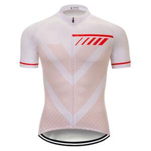 2021 Mens Short Sleeve Cycling Jerseys Bicycle Riding Bike Tops Clothing Maillot