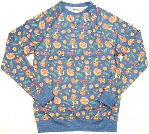 "New Disney Parks Orange Bird W/ Orange Slices ""Nice!"" Blue Men's Sweatshirt S-L"
