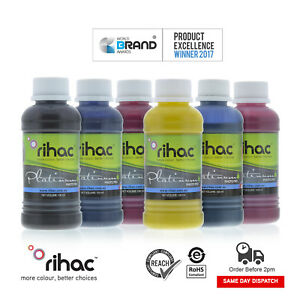 RIHAC Dye Sublimation Ink for Epson Printer CISS Refill Heat Transfer 100ml