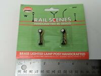 NEW HO Model Power #593 Brass Handcrafted Lamp Posts 6 Street Lights LOT OF 2