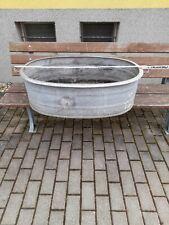 Alte Zinkbadewanne, Zinkwanne, Pflanzgefäß, Blumenkübel, Teich, 104 cm XXXL
