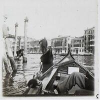 Venezia Italia Foto Stereo T2L7n3 Placca Da Lente Vintage