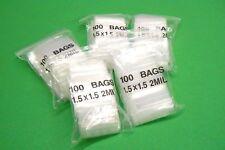 """1-1/2"""" Ziplock Bags 2mil Reclosable Square Baggies 1.5"""" x 1.5"""" Zip Lock 500pcs"""