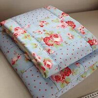 HAND MADE CRIB  / CRADLE BEDDING SET IN PINK /BLUE FLORAL CATH KIDSTON FOR IKEA