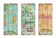 Bild Retro Holzschild Beach Bar 35 x 15 cm /  3er Set