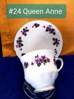 Queen Anne Fine Bone China Teacup And Saucer Set.  English