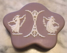 Wedgwood Jasperware Lilac Dancing Hours Trinket Box