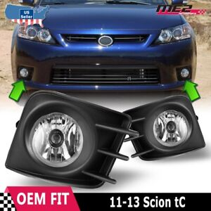 For Scion tC 11-13 Factory Bumper Replacement Fit Fog Lights DOT Clear Lens