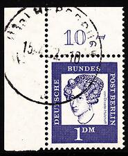 ❷❷  Berlin BD 100 Pf. MiNr 212  Ecke 1 Eckrand 1 Bogenecke zentriisch gestempelt