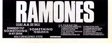 "3/5/86pg4 Single Advert 4x10"" The Ramones, Somebody Put Something In My Drink"